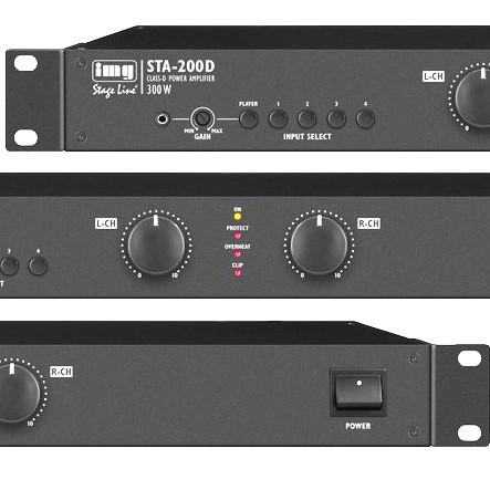 Stereo Verstärker 2x125W Mischverstärker 19zoll Endstufe STA200D