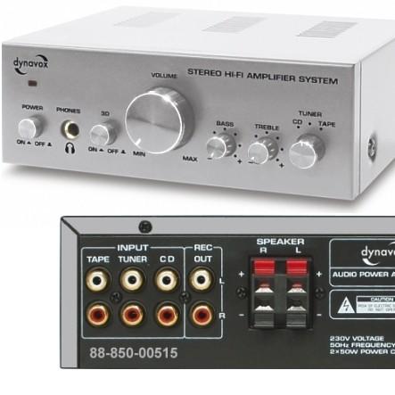 Verstärker CS-PA1 Mini-Verstärker 2x50 Watt 2Kanal Stereo Silber