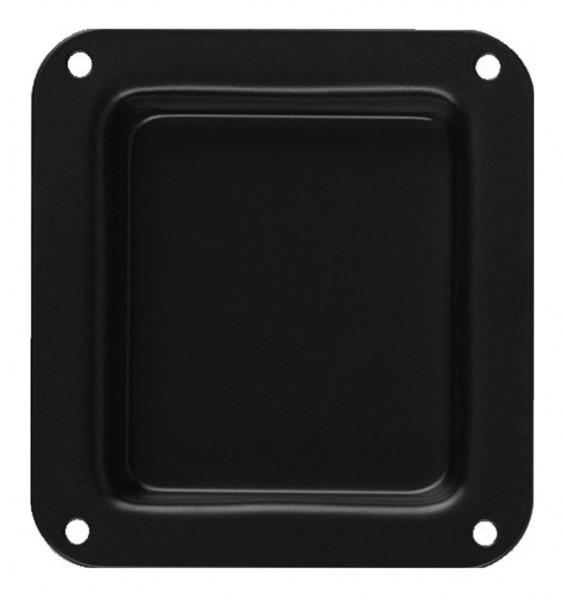 Einbauschale Metall ohne Bohrung 110,5x102,5mm Schwarz