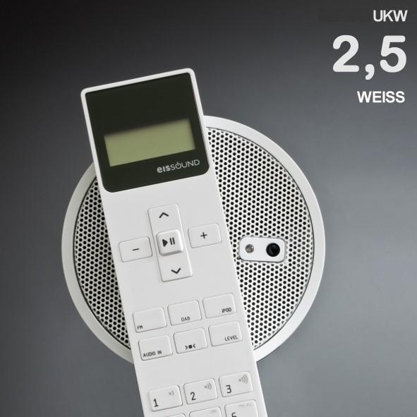 Deckenlautsprecher Set SELECT Verstärker Küchen Bäder Weiss