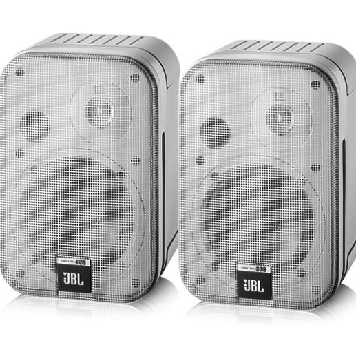 Lautsprecherboxen 2x50W JBL Control One Regalbox Silber