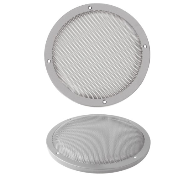 212mm Lautsprecherabdeckung Gitter Rund Silber