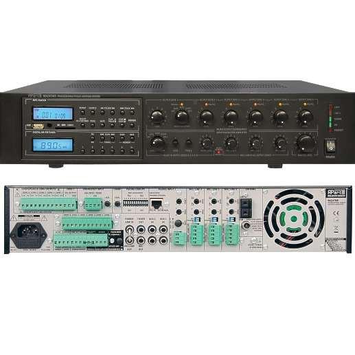 ELA Zentrale 6Zonen 240/360W Verstärker mit MP3 Player und UKW