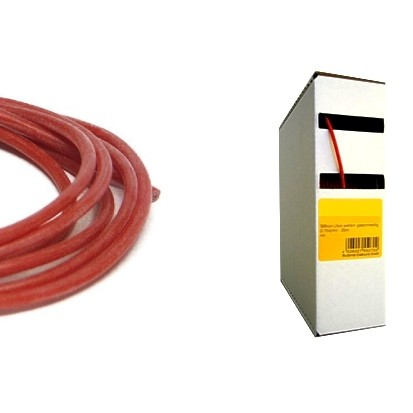 25m Silikonkabel 1,5qmm Rot Temperaturfest bis 180 Grad