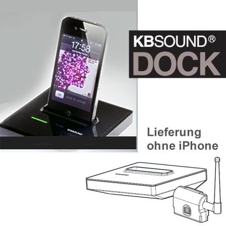 Zubehör KBSound DOCK zu 5Z passend zu iPhone Farbe Schwarz