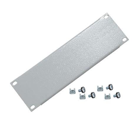 4HE Blende Rackblende Stahl 483x176mm Grau