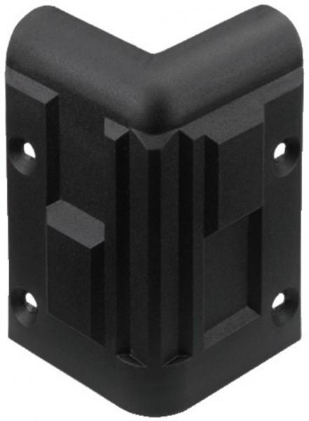 Schutzecke Kunststoff Schwarz Stapelbar 60x60x90mm