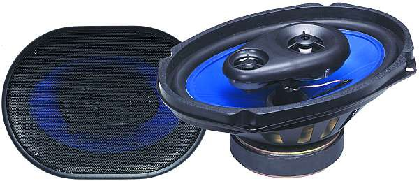 Autolautsprecher 3-wege Oval 2x150W 6x9 230x150mm BLUE Serie