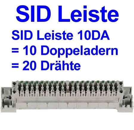 Anschlussleiste SID 10DA für 20-Drähte