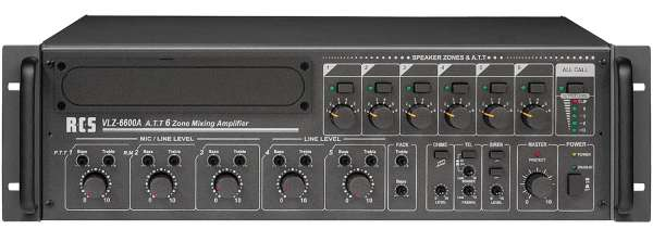ELA Verstärker 900W 6-Zonen Regelung VLZ6600A 100V ELA Zentrale mit 6Eingänge