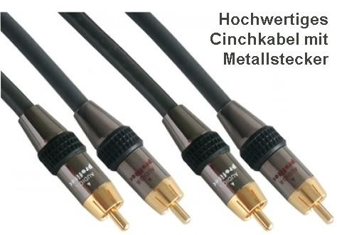 15m Cinchkabel hochwertig Stereo HighEnd Qualität