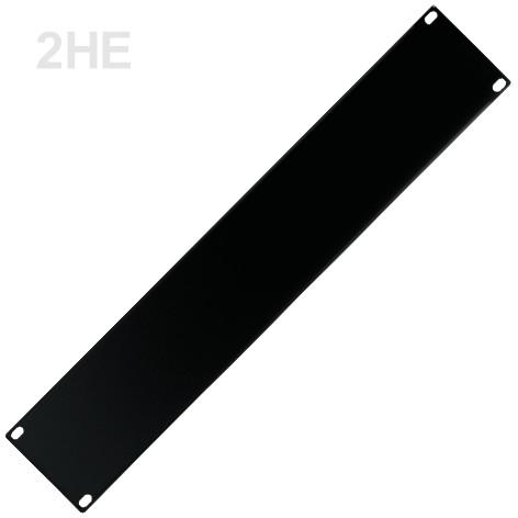 2HE Rackblende Blindplatte Stahl 483x88mm Schwarz