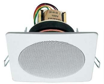 Kabelkanal Lautsprecher Steckdosen Lautsprecher 10W 100V + 8Ohm Weiss