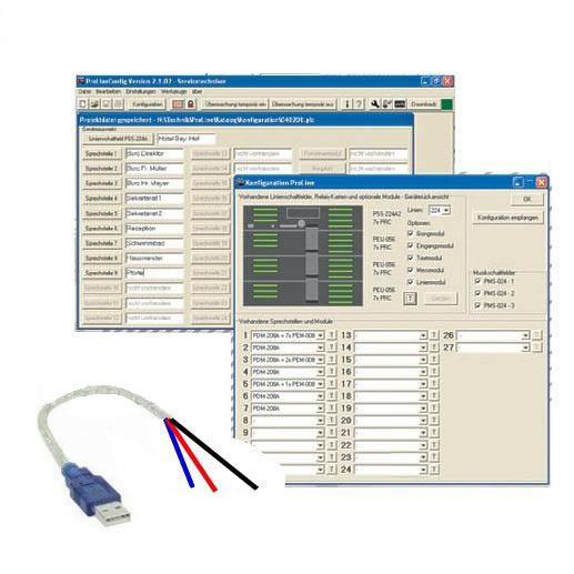Zubehör zu Hauptuhr Software und BUS USB Konverter