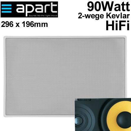 Deckenlautsprecher Weiss 296x196mm 80W 8ohm 2wege Kevlar HiFi Pro