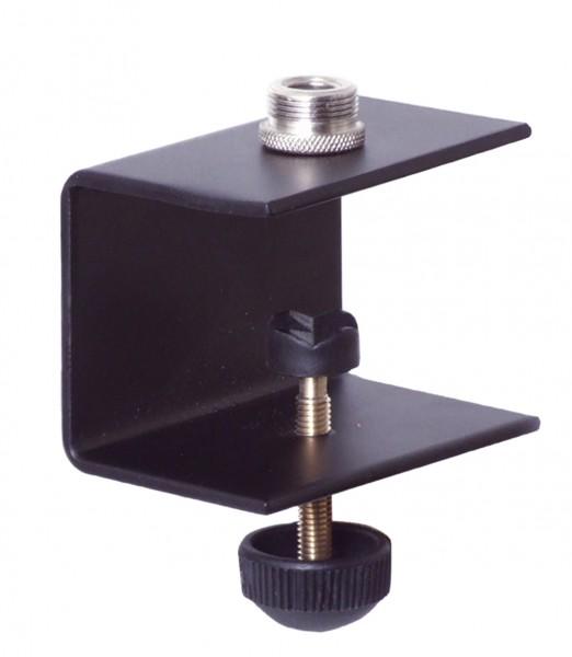 Schwanenhals Halter für Platten bis 40mm --Schwarz--