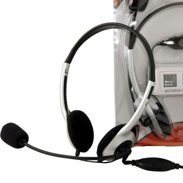 Headset Stereo Kopfhörer mit Mikrofon und Lautstärkeregler