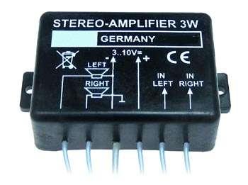 Modul Verstärker Stereo 2x 1,5 Watt 3-10V