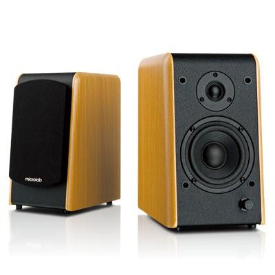 Aktiv Lautsprecher 80W Holzgehäuse mit Verstärker