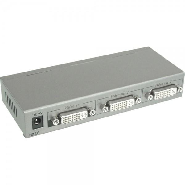 DVI Splitter 2-fach mit Verstärker