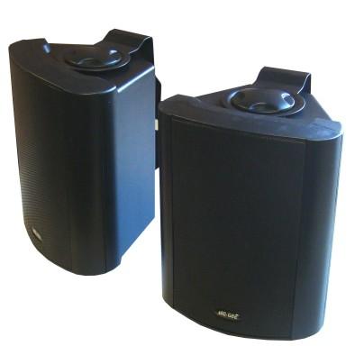 Lautsprecherboxen Outdoor 2x80W 8Ohm Schwarz