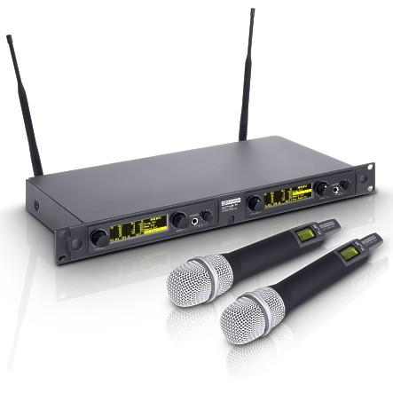 Funkmikrofon Set LD-Systems LDWIN42HHD2 1680 Kanaele DUALPack