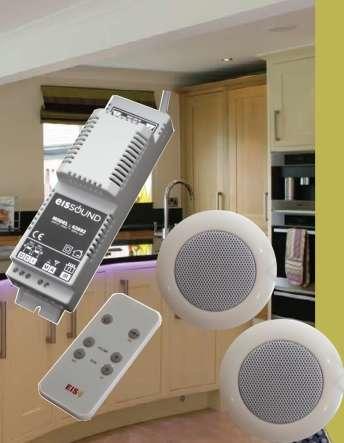 Deckenlautsprecher Set BASIC mit Verstärker für Küchen Bäder