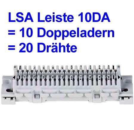 Anschlussleiste LSA 10DA für 20-Drähte