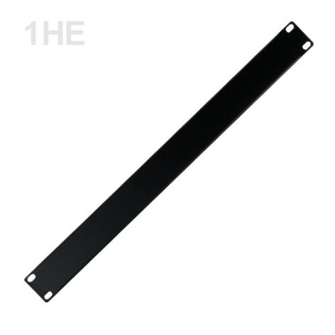 1HE Blende Rackblende Stahl 483x44mm Schwarz