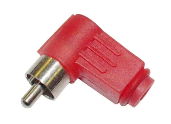 Cinchstecker --Rot-- gewinkelt Kunststoff RCA
