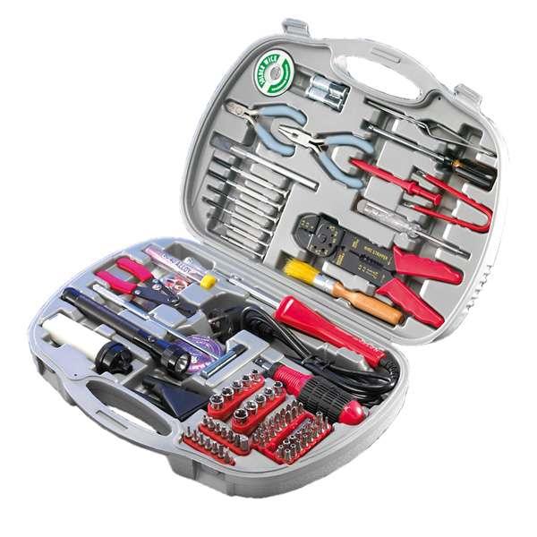 Technikerkoffer PC Servicekoffer Werkzeug Koffer 145-teilig