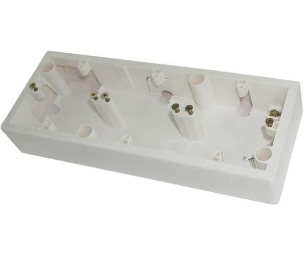 3-fach Aufputzgehäuse zur Lautsprecherdose Weiss